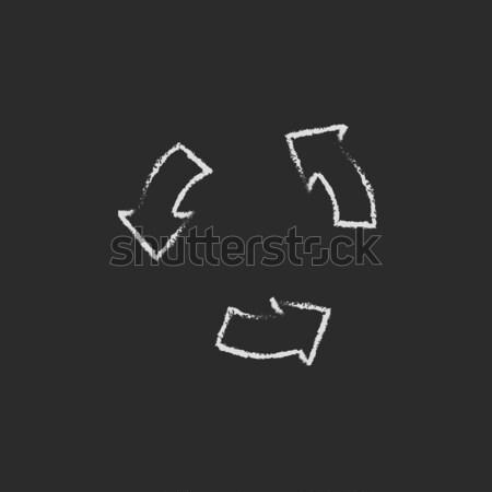 ボタン アイコン チョーク 手描き 黒板 ストックフォト © RAStudio