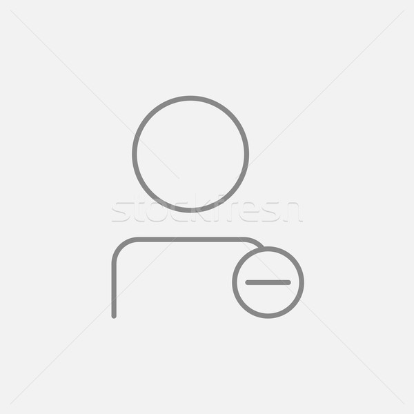 User profile with minus sign line icon. Stock photo © RAStudio