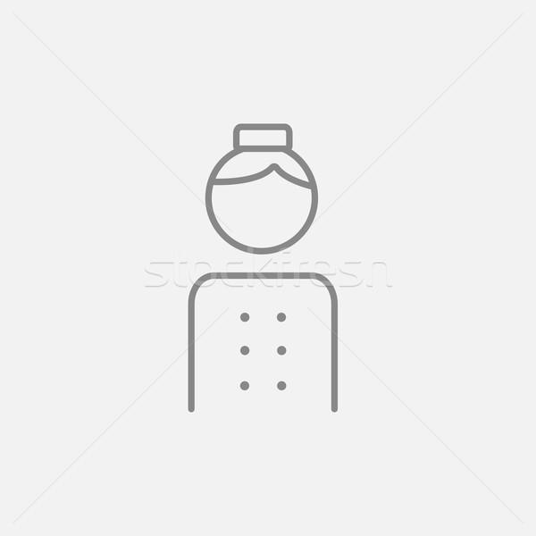Line icona web mobile infografica vettore Foto d'archivio © RAStudio
