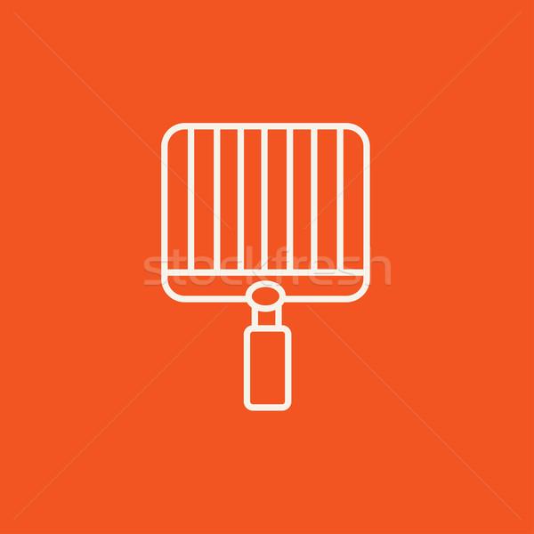 üres barbecue grill vonal ikon háló mobil Stock fotó © RAStudio