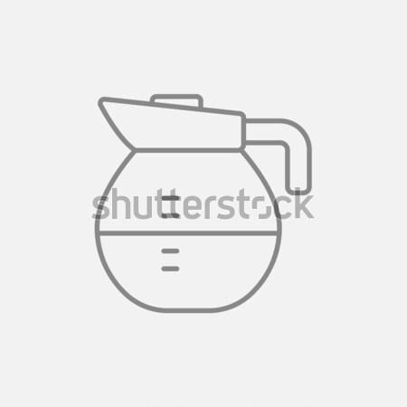 Carafe line icon. Stock photo © RAStudio