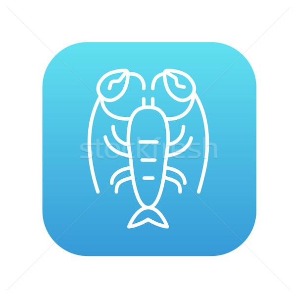 омаров линия икона веб мобильных Инфографика Сток-фото © RAStudio