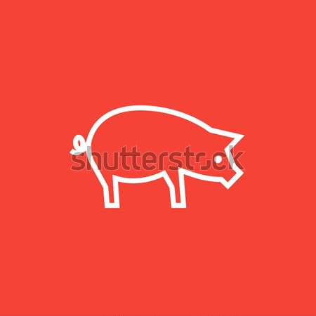Pig line icon. Stock photo © RAStudio