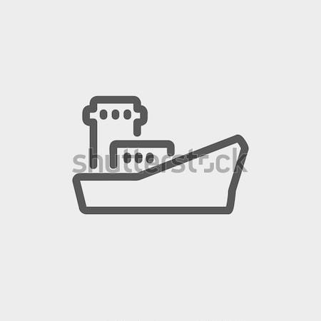 Stockfoto: Vracht · containerschip · lijn · icon · web · mobiele