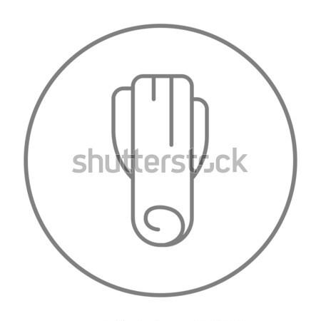 Alho-porro linha ícone teia móvel infográficos Foto stock © RAStudio