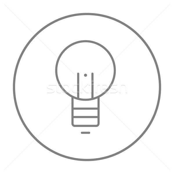 Lightbulb line icon. Stock photo © RAStudio
