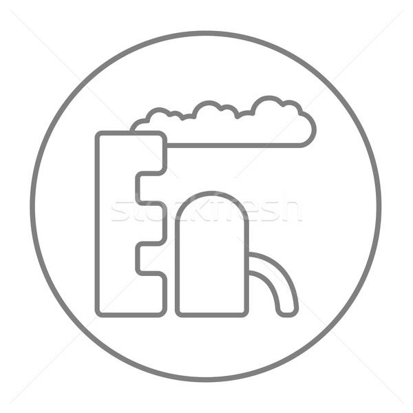 Rafineri bitki hat ikon web hareketli Stok fotoğraf © RAStudio