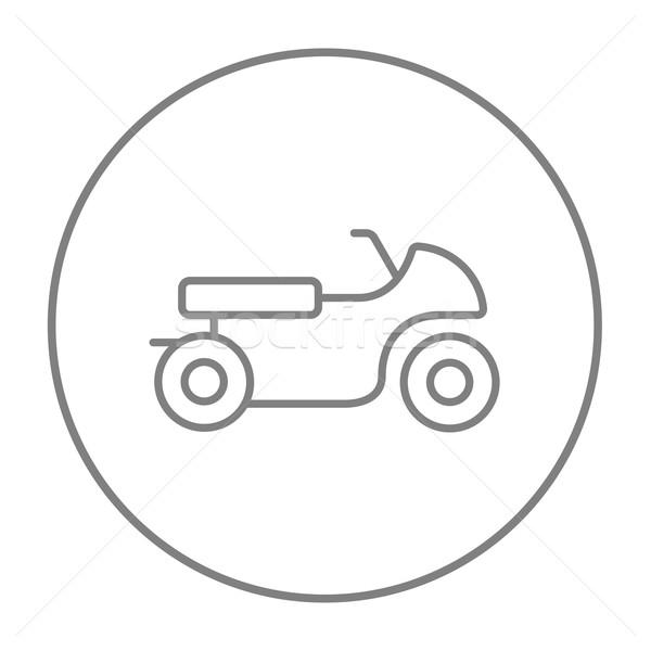 мотоцикл линия икона веб мобильных Инфографика Сток-фото © RAStudio