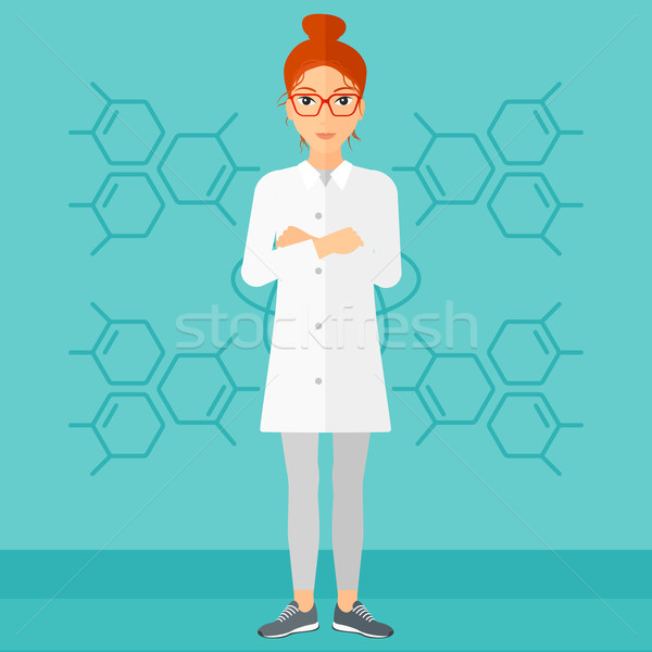 Female laboratory assistant. Stock photo © RAStudio