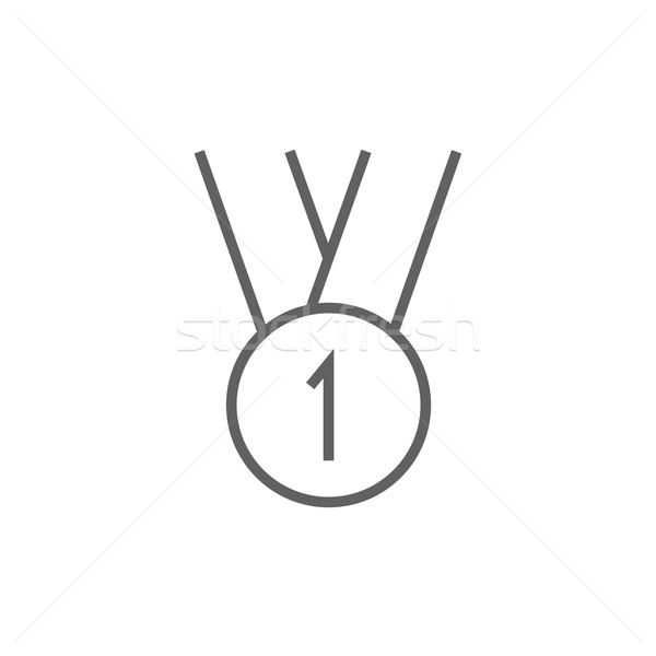 金メダル 最初の場所 行 アイコン コーナー ウェブ ストックフォト © RAStudio