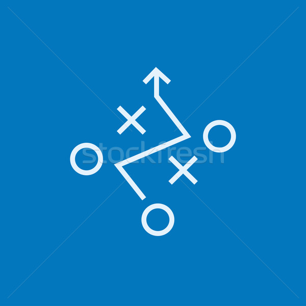 Taktik plan hat ikon köşeler web Stok fotoğraf © RAStudio