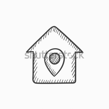 House with pointer sketch icon. Stock photo © RAStudio