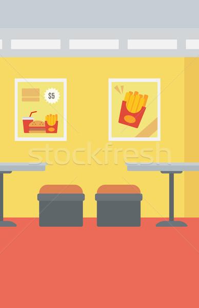 Fastfood restaurant vector ontwerp illustratie verticaal lay-out Stockfoto © RAStudio