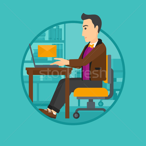 Businessman receiving or sending email. Stock photo © RAStudio