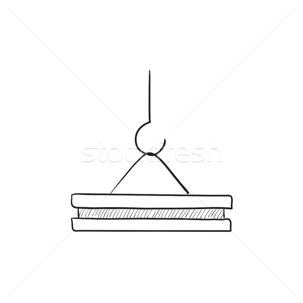 Crane hook sketch icon. Stock photo © RAStudio