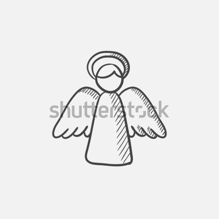 Easter angel sketch icon. Stock photo © RAStudio
