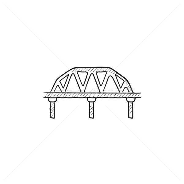 Trilho maneira ponte esboço ícone vetor Foto stock © RAStudio