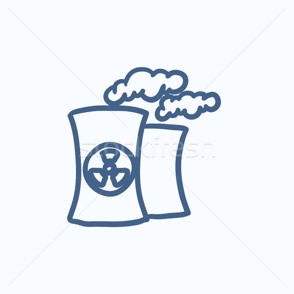 Nuclear power plant sketch icon. Stock photo © RAStudio
