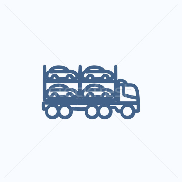 Car carrier sketch icon. Stock photo © RAStudio
