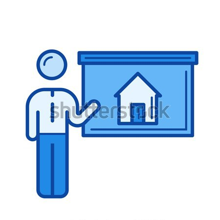 дома эскиз икона вектора Сток-фото © RAStudio