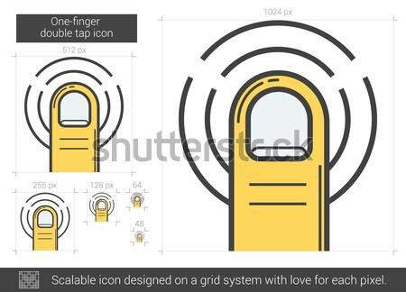 Doubler robinet ligne icône vecteur isolé Photo stock © RAStudio