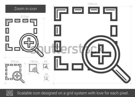 Yakınlaştırma hat ikon vektör yalıtılmış beyaz Stok fotoğraf © RAStudio