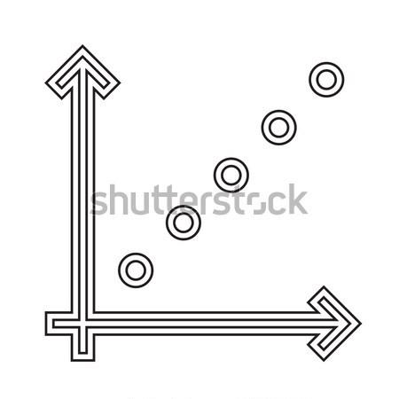 Gráfico de negócio linha ícone vetor isolado branco Foto stock © RAStudio