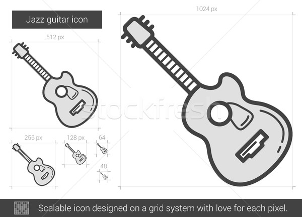Jazz guitar line icon. Stock photo © RAStudio