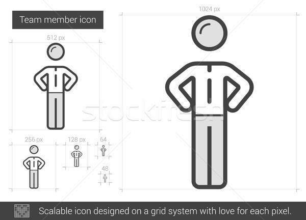 Takım üye hat ikon vektör yalıtılmış Stok fotoğraf © RAStudio
