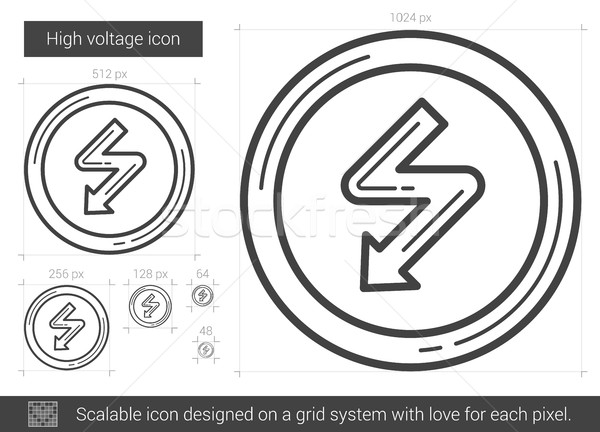 High voltage line icon. Stock photo © RAStudio