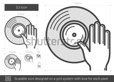 DJ line icon. Stock photo © RAStudio