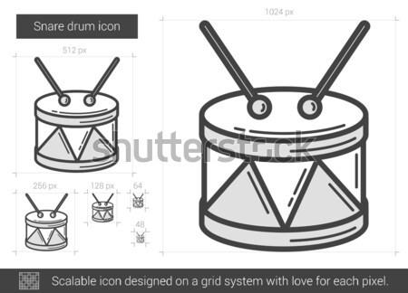 Snare drum line icon. Stock photo © RAStudio