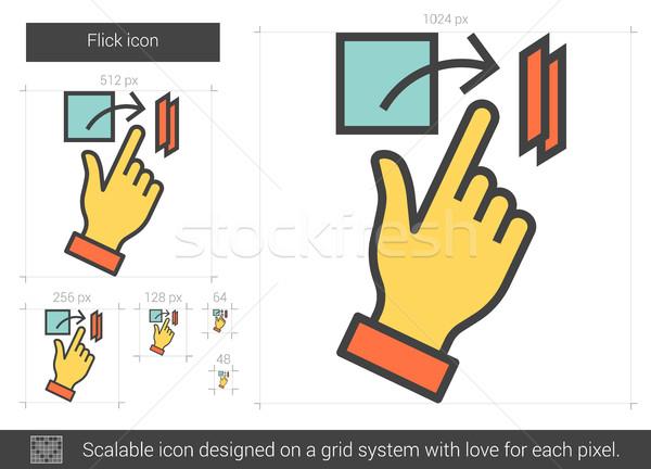 Flick line icon. Stock photo © RAStudio