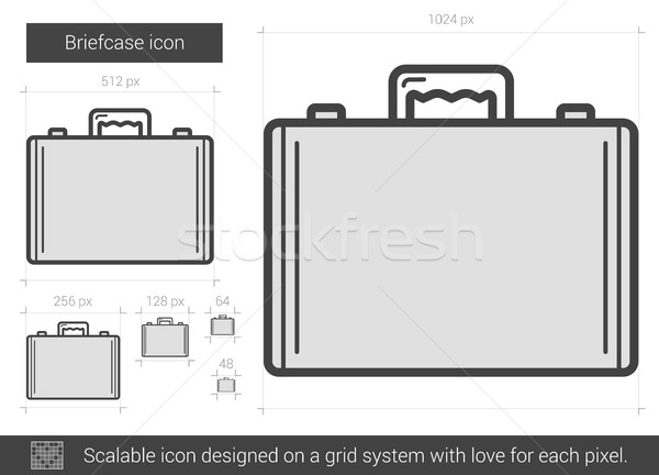Briefcase line icon. Stock photo © RAStudio