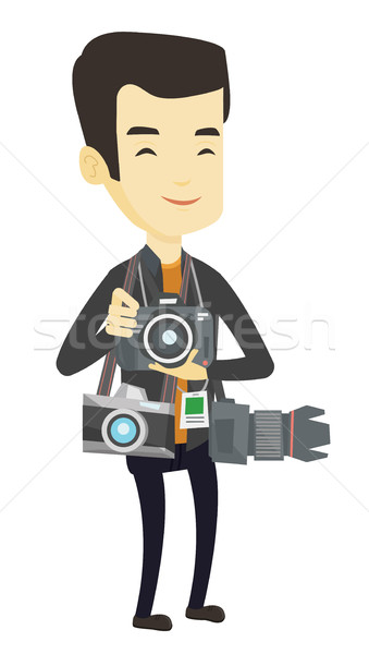 Photographe photo jeunes asian beaucoup Photo stock © RAStudio