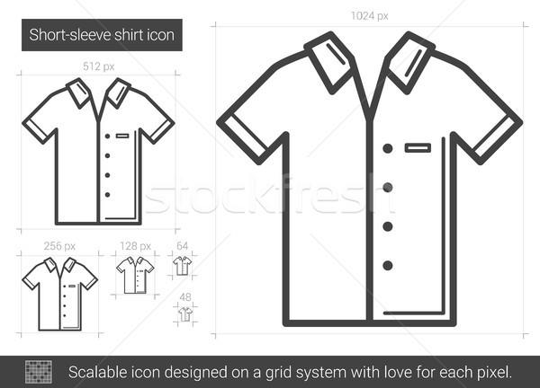 Shirt line ikona wektora odizolowany biały Zdjęcia stock © RAStudio