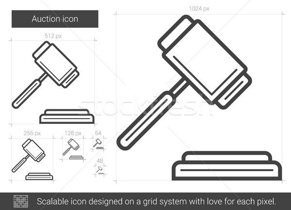 Auction line icon. Stock photo © RAStudio