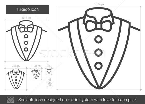 Tuxedo line icon. Stock photo © RAStudio