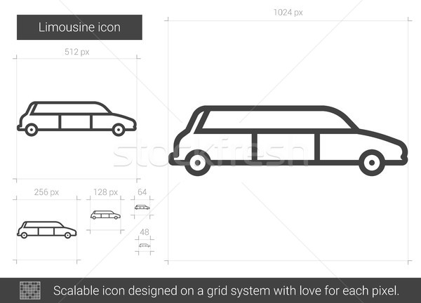 Stock photo: Limousine line icon.