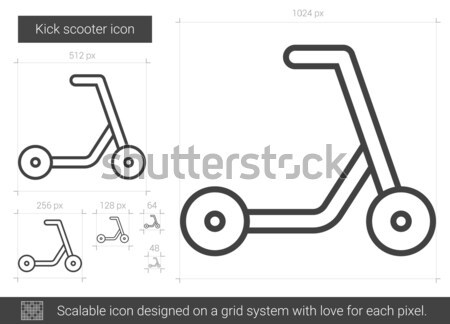 Rúgás moped vonal ikon vektor izolált Stock fotó © RAStudio