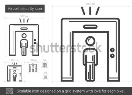 Airport security line icon. Stock photo © RAStudio