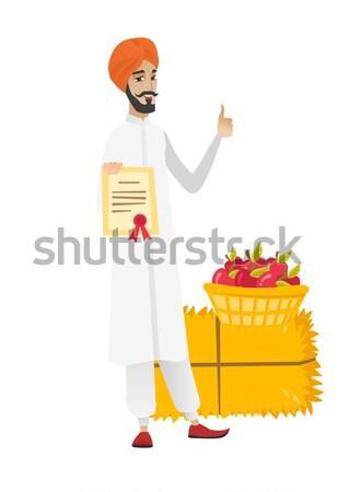 Empresario maletín completo dinero pie económico Foto stock © RAStudio