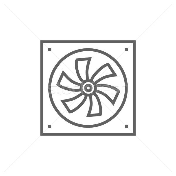 Foto stock: Computador · linha · ícone · teia · móvel