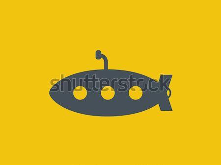 подводная лодка эскиз икона вектора изолированный рисованной Сток-фото © RAStudio
