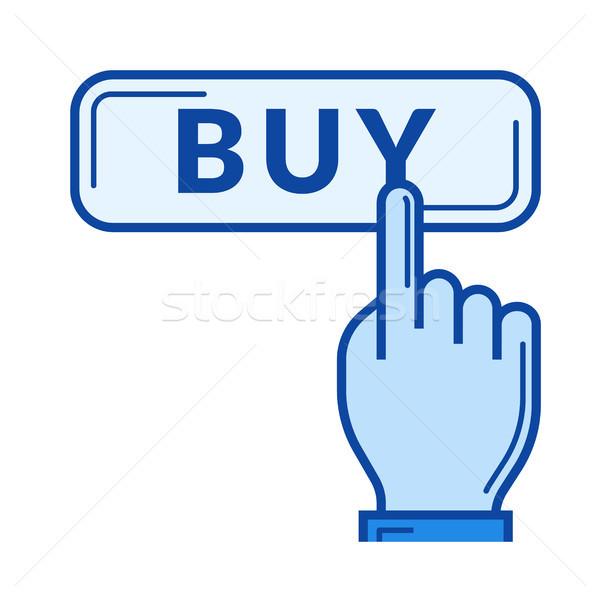 Online vásárlás vonal ikon vektor izolált fehér Stock fotó © RAStudio