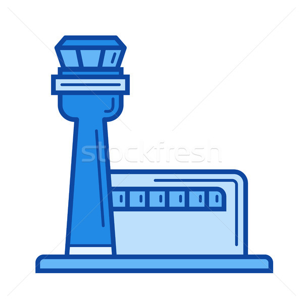 Airport terminal line icon. Stock photo © RAStudio