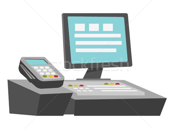 Cashbox vector cartoon illustration. Stock photo © RAStudio