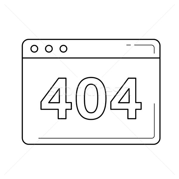 Unavailable website line icon. Stock photo © RAStudio