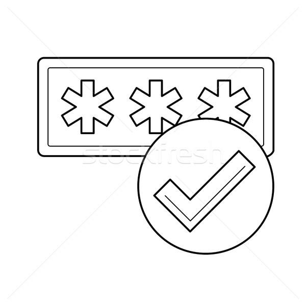 Password protection line icon. Stock photo © RAStudio