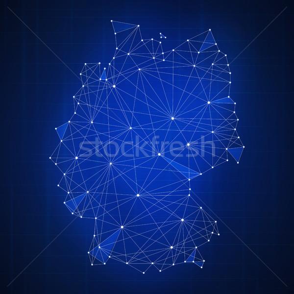 Сток-фото: многоугольник · Германия · карта · баннер · технологий